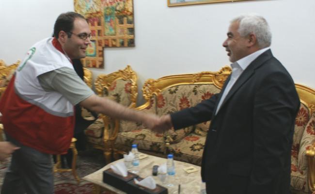 علی البرزی و استاندار کربلا